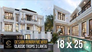 Video Desain Rumah Classic 3 Lantai Bapak Daniel Danuta Kurniawan di  Jakarta Selatan