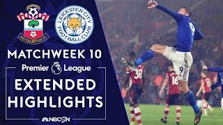Southampton v. Leicester City | PREMIER LEAGUE HIGHLIGHTS | 10/25/19 | NBC Sports