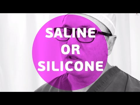 What is the difference between saline or silicone implants?