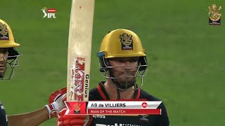 RCB v MI | AB de Villiers | Man of the Match