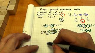 Board foot calculation (dressed lumber)