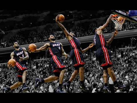 LeBron James Top 10 Career Dunks