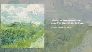 Concerto for 3 Harpsichords in D minor, BWV 1063