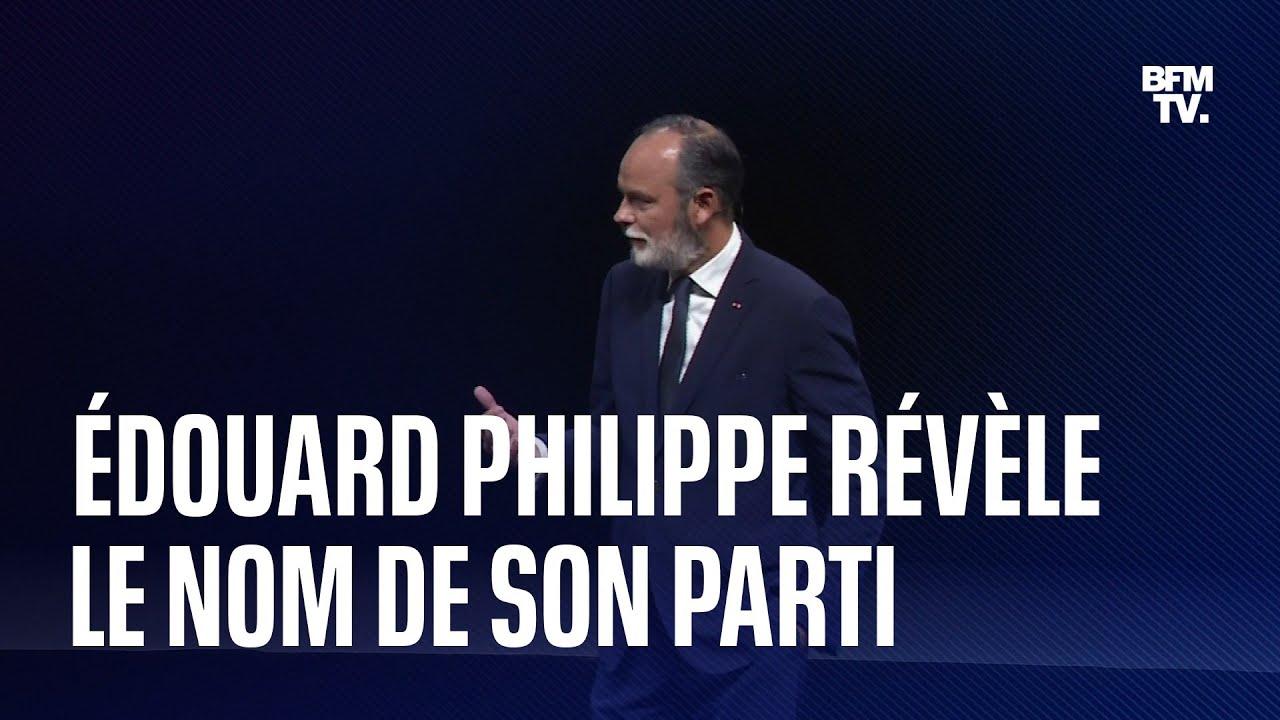 Horizons: Édouard Philippe révèle le nom de son parti politique