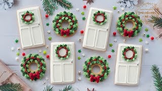 How To Make CHRISTMAS DOOR & WREATH Cookies