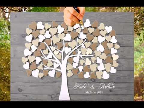 Wedding tree Hochzeitsbaum and Fingerabdruck-Baum fingerprint tree - wedding color 2018