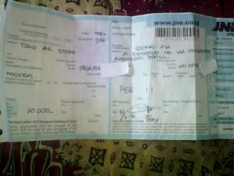 Penting ! Habis dari kantor JNE kirim paket, ada bukti pengiriman, cek no resi nya yang mana hayo ?
