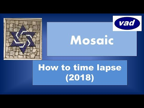 Jewish Star mosaic howto & style! How to mosaic techniques! Learn to make your home decor!