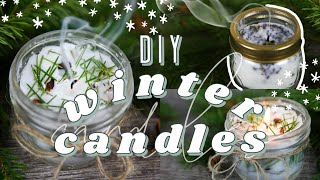 WINTER CANDLES DIY