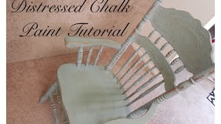 Distressed Chalk Paint Tutorial