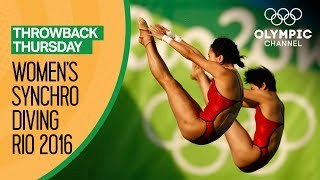 Women's Synchronised Diving 10m Platform - Rio Replays | Throwback Thursday