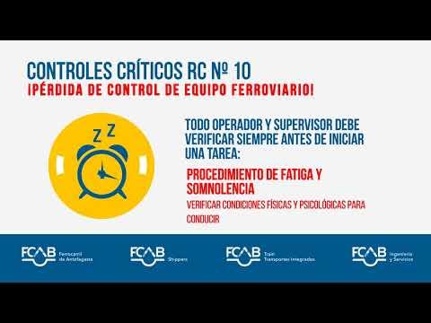 Riesgo de Fatalidad N°10 Pérdida de control de equipo ferroviario / Controles Críticos