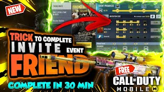 How to complete invite friend event in call of duty mobile | 100% working trick