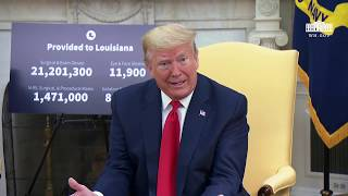 President Trump Meets with the Governor of Louisiana
