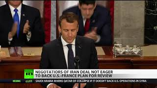 Macron and Trump take differing positions on Iran deal