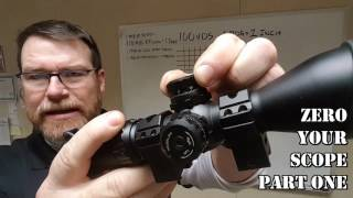 How To Zero A Rifle Scope:  Beginners Guide Part One-Classroom Phase