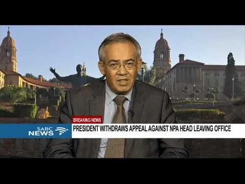 President's decision to withdraw appeal case involving Abrahams - Prof. Dirk Kotze