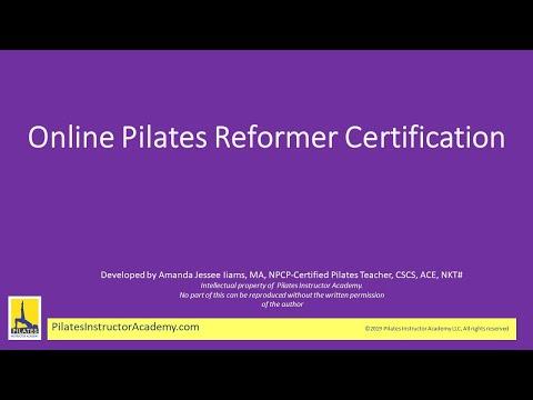 Online Pilates Reformer Teacher Certification Free Preview ...