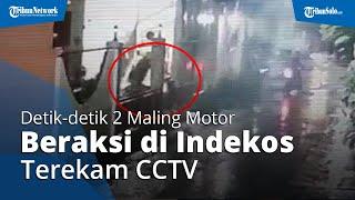 Video Detik-detik Dua Maling Motor Beraksi di Kos-kosan Daerah Colomadu, Sempat Terekam CCTV