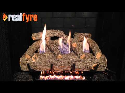 Peterson Golden Oak Designer Plus Gas Logs Demonstration