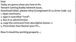 tencent gaming buddy pubg download failed hatas
