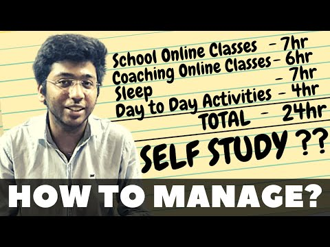 How to manage online classes and self study   Must Watch