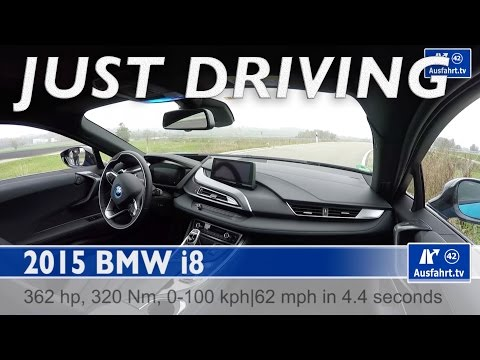 2015 BMW i8 - just driving - on autobahn, country road and in the city