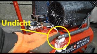 Undichter Chinakompressor Druckluftkompressor Kolbenkompressor Technik Tutorial TC-AC 420 50 10