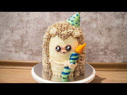 Как сделать декор торта Ёжик