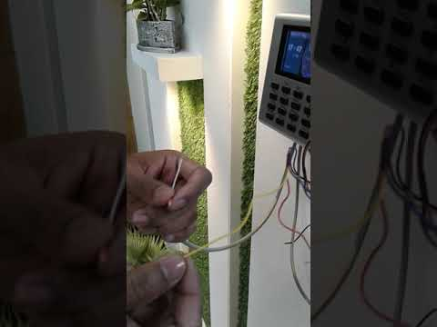 How to connection zkteco k40 with access control lock