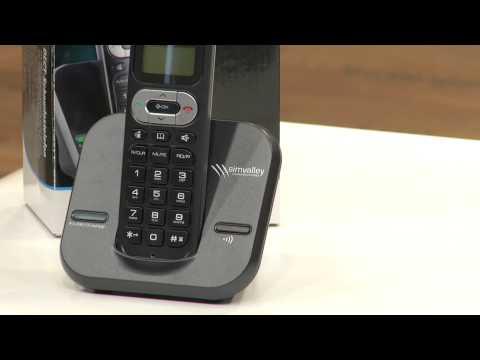 simvalley Retro-DECT-Schnurlostelefon mit Anrufbeantworter, schwarz