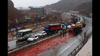 18+, жесткие и страшные аварии 2017 года