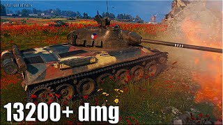 TVP T 50/51 рекорд по урону 🌟 13200+ dmg 🌟 World of Tanks лучший бой на ст 10 уровня твп т 50 51