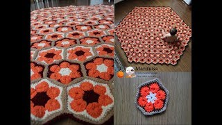 How To Crochet Blanket Afghan Rug Free Pattern Tutorial By Marifu6a