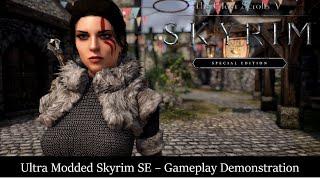 Skyrim SE Ultra Modded Gameplay - Tending the Flames