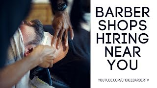 Barber Shops Hiring Near You - Submit a Resume