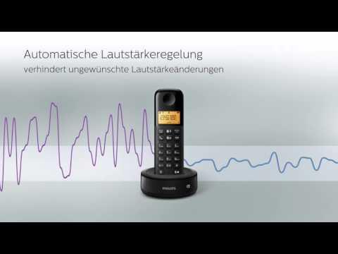 Philips schnurlose Telefone mit und ohne Anrufbeantworter D1301 & D1351   Philips Sound