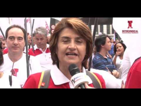 Diretoria do sindicato e milhares marcham contra Cunha e Ajuste Fiscal