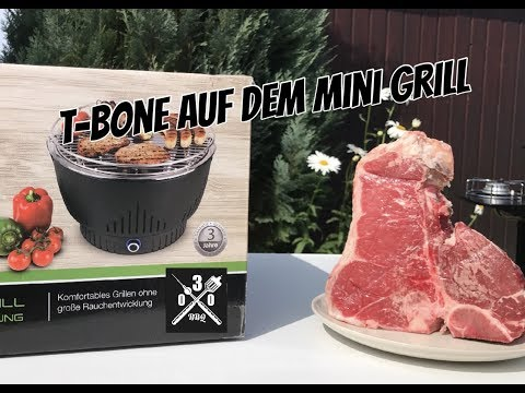 T-Bone Steak auf dem mini Grill -030BBQ