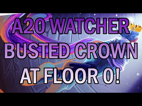 Busted Crown... ON FLOOR 0?! | Ascension 20 Watcher Run | Slay the Spire