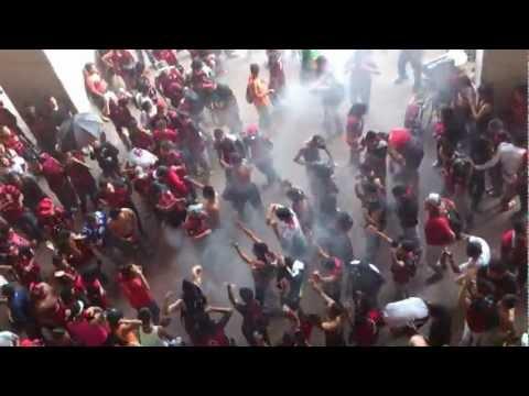 """Previa BHR Deportivo Lara vs newell's Libertadores 21/02/2013"" Barra: Huracan Roji-Negro • Club: Deportivo Lara"