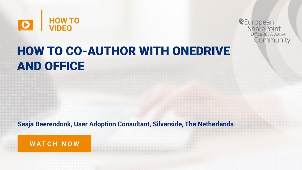 How To Co-Author with OneDrive and Office