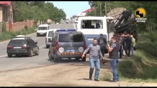 В Чернівецькій області на трасі в селі Коровія перевернувся маршрутний автобус з пасажирами
