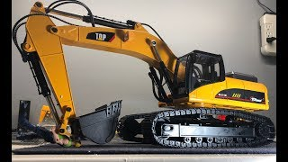 Top Race 1580 All Metal Rc Excavator Unbox/showing