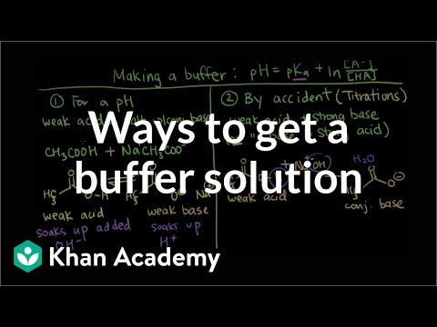 Ways to get a buffer solution (video) | Khan Academy