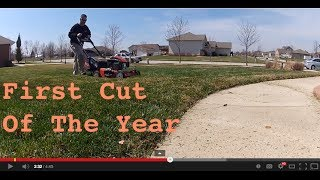 First Lawn Mowing Of The Year: Step By Step