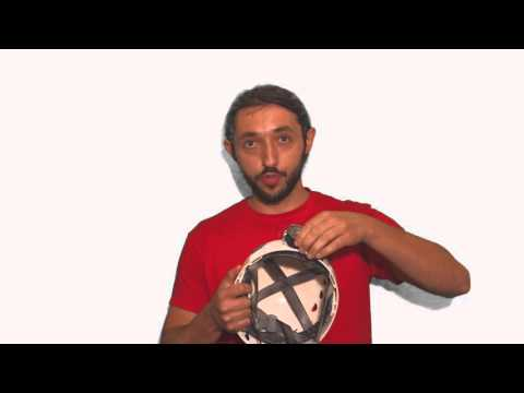 Montaggio lampada Sbrasa su casco speleo