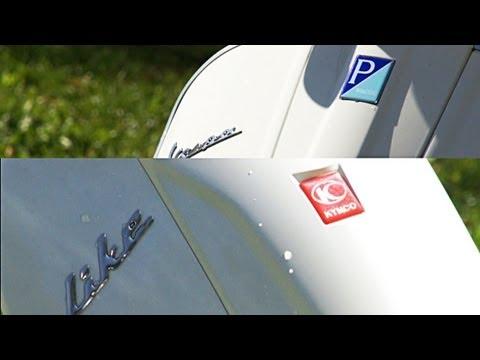 Vespa GTS 125 Super VS Kymco Like 125 Vergleichstest