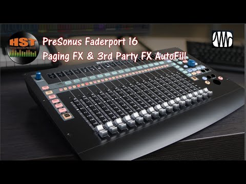Paging FX & 3rd Party FX AutoFill - Faderport 8/16 (Studio One 4.5.5) Part 1 of 5-