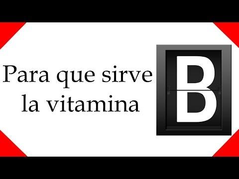 para que sirve la vitamina B